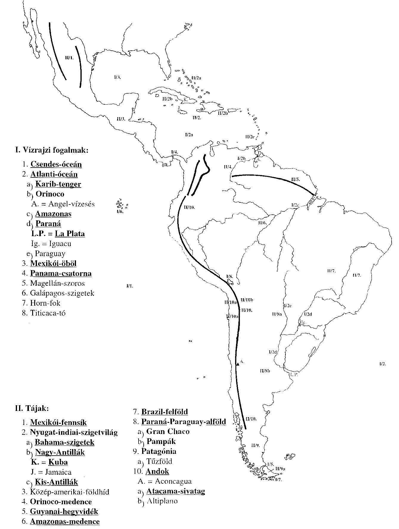 amerika vízrajza térkép 7. osztály amerika vízrajza térkép